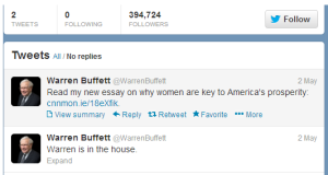 buffett tweets